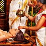 Snehana ou oléation du corps et des cheveux